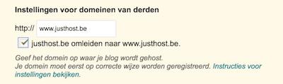 zonder www met www blogger