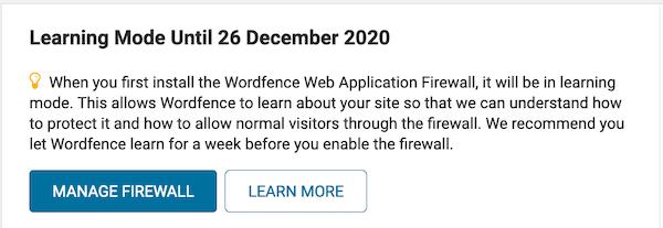 wordfence firewall instellen