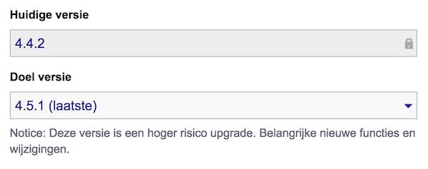 WordPress updaten in Installatron