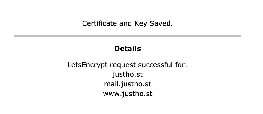 let's encrypt certificaat genereren