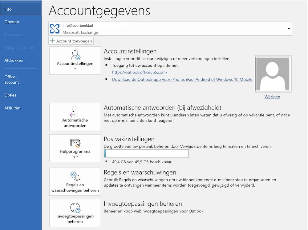 E-mail account toevoegen in Outlook