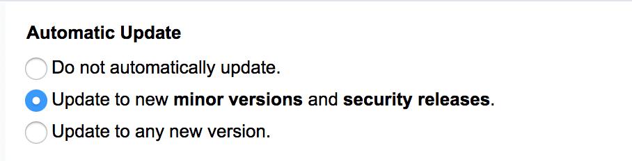 automatische update installatron
