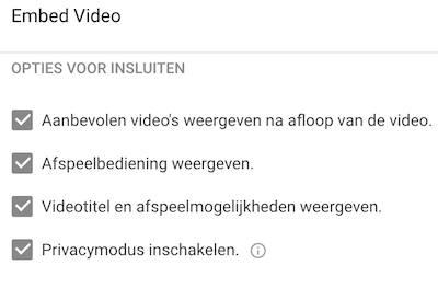 youtube privacymodus