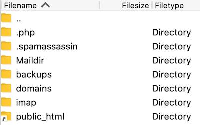 navigeren in FileZilla