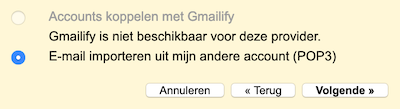 email importeren in gmail
