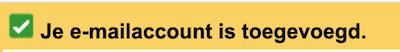 emailaccount toegevoegd aan gmail