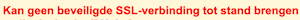 kan geen beveiligde ssl verbinding tot stand brengen