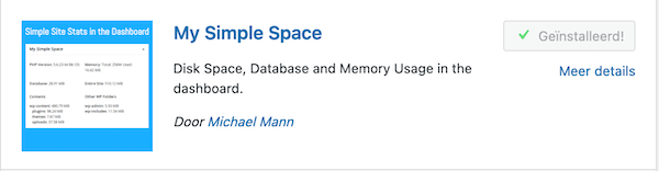 my simple space installeren