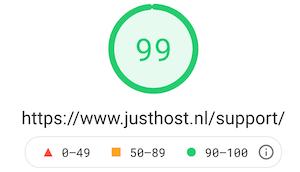 website hosting snelheid
